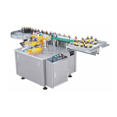 Automatic Bottle Jars Can Paste Glue Labeling Machine