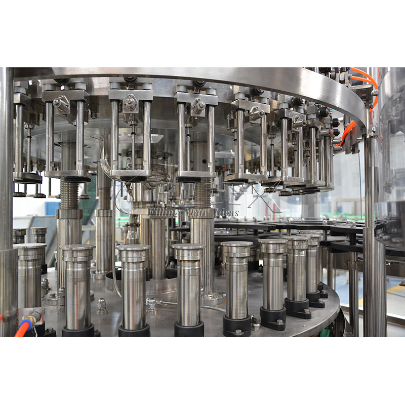 Fully Automatic online glass washing filling twist-off capping machine